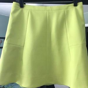 J. Crew Flared Skirt - Neon Yellow - Size 6